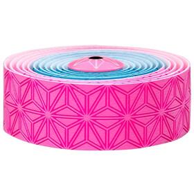 Supacaz Super Sticky Kush Starfade Handlebar Tape, neon pink/neon blue